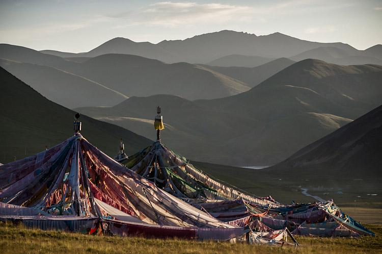 Teia de flâmulas budistas. Qu'malai – Qinghai